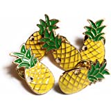 FizzyButton Gifts pineapple pin brooch for birthday party bags (Set of 5 brooches)