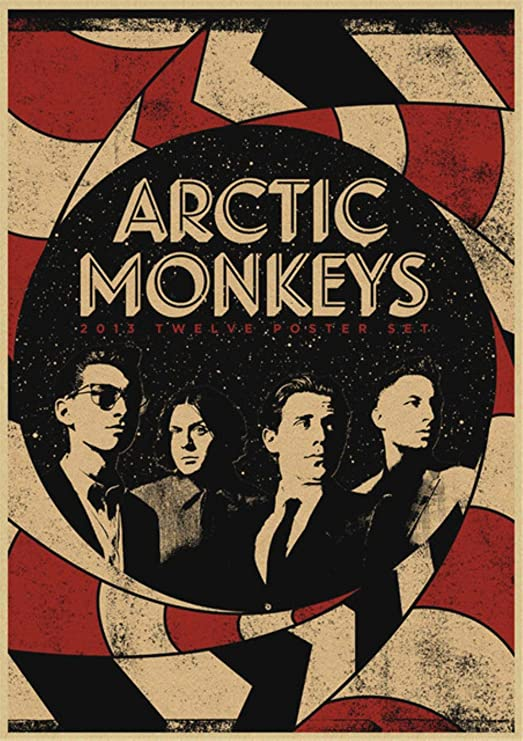 Cinta de pared kraft cartel de papel de rock Arctic Monkeys ...