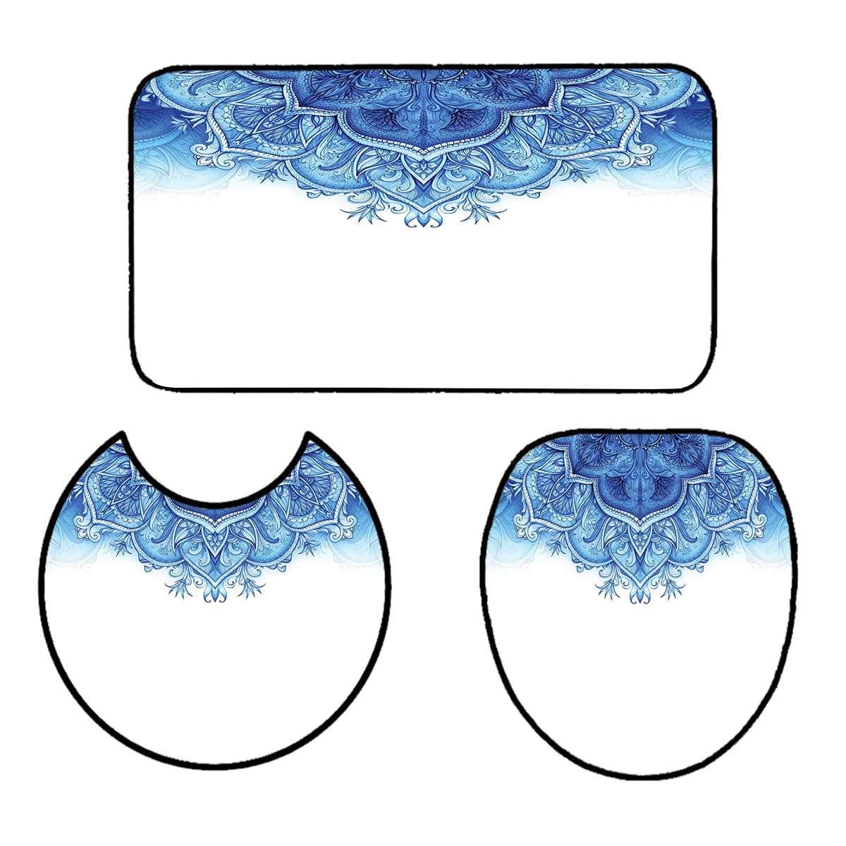 qianhehome 3 Piece Anti-Slip mat Set Educational Solar System Planets Neptune Venus Mercury Kids Science Horizontal Art Custom Made Rug Set 15''x18''-D20-16''x24''
