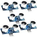 CJRSLRB 5 Pcs 5 Pack Ultrasonic Module HC-SR04 Distance Measuring Transducer Sensor for Arduino UNO MEGA R3 Mega2560 Duemilanove Nano Robot