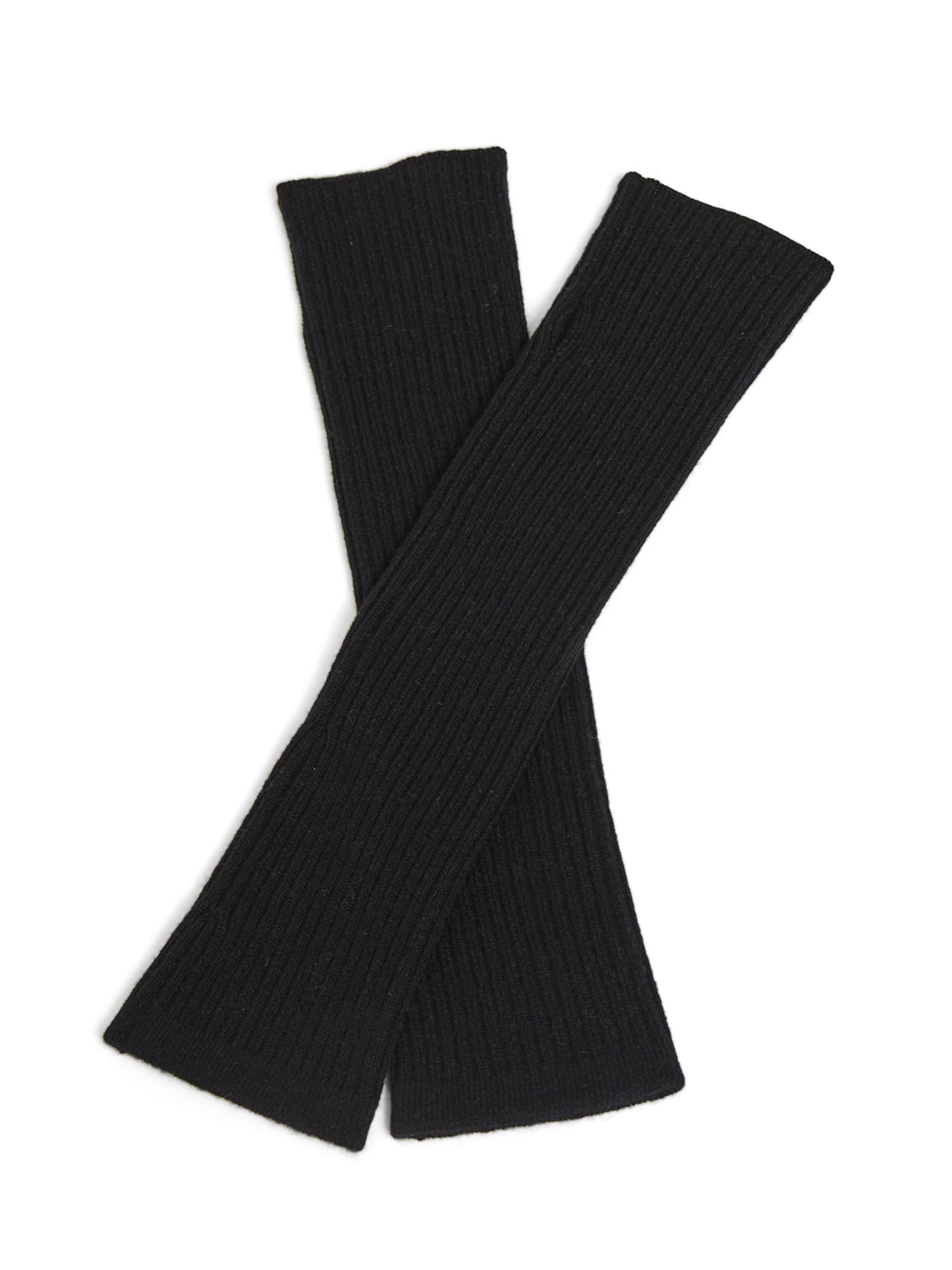 State Cashmere Women's 100% Cashmere Knit Long Fingerless Arm Warmers Mitten Gloves 13''