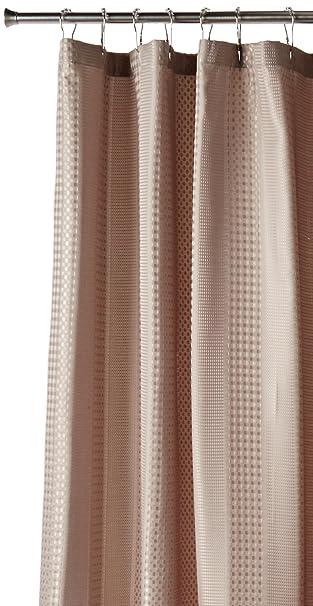 Amazon.com: H2Ology Waffle Weave Shower Curtain W 3M Scotchgard ...