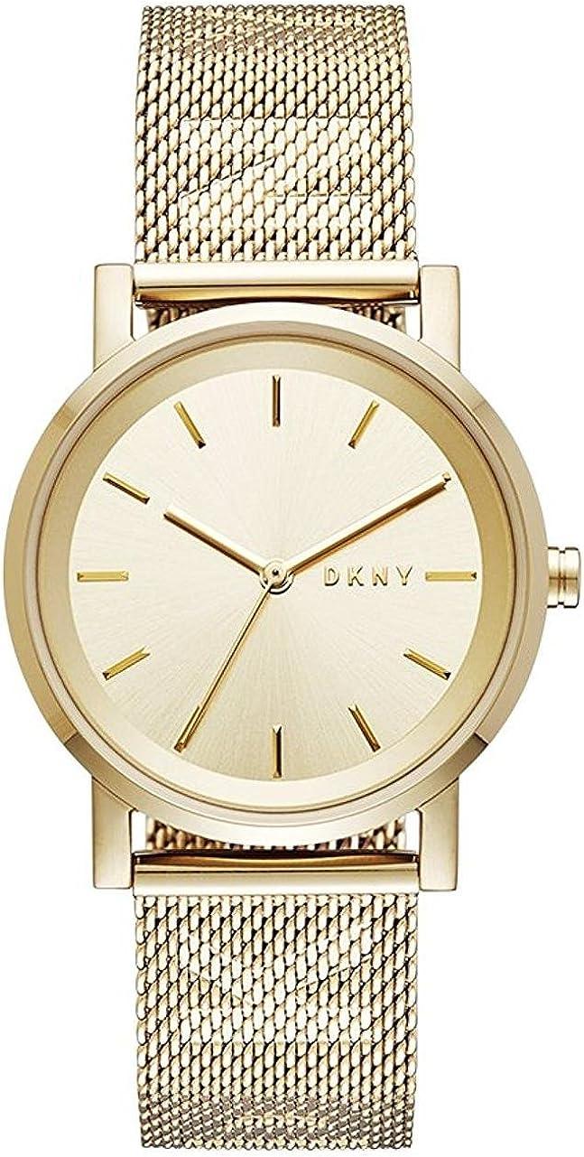 DKNY Reloj Analogico para Mujer de Cuarzo con Correa en Acero Inoxidable NY2621