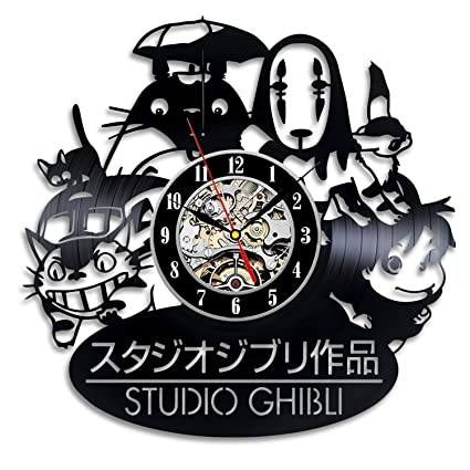 Studio Ghibli Anime Vinyl Record Wall Clock   Decorate Your Home With Modern  Art   Gift