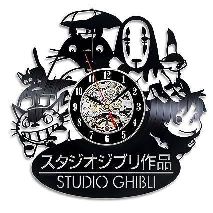 Art Wall Clock | Amazon Com Studio Ghibli Anime Vinyl Record Wall Clock Decorate