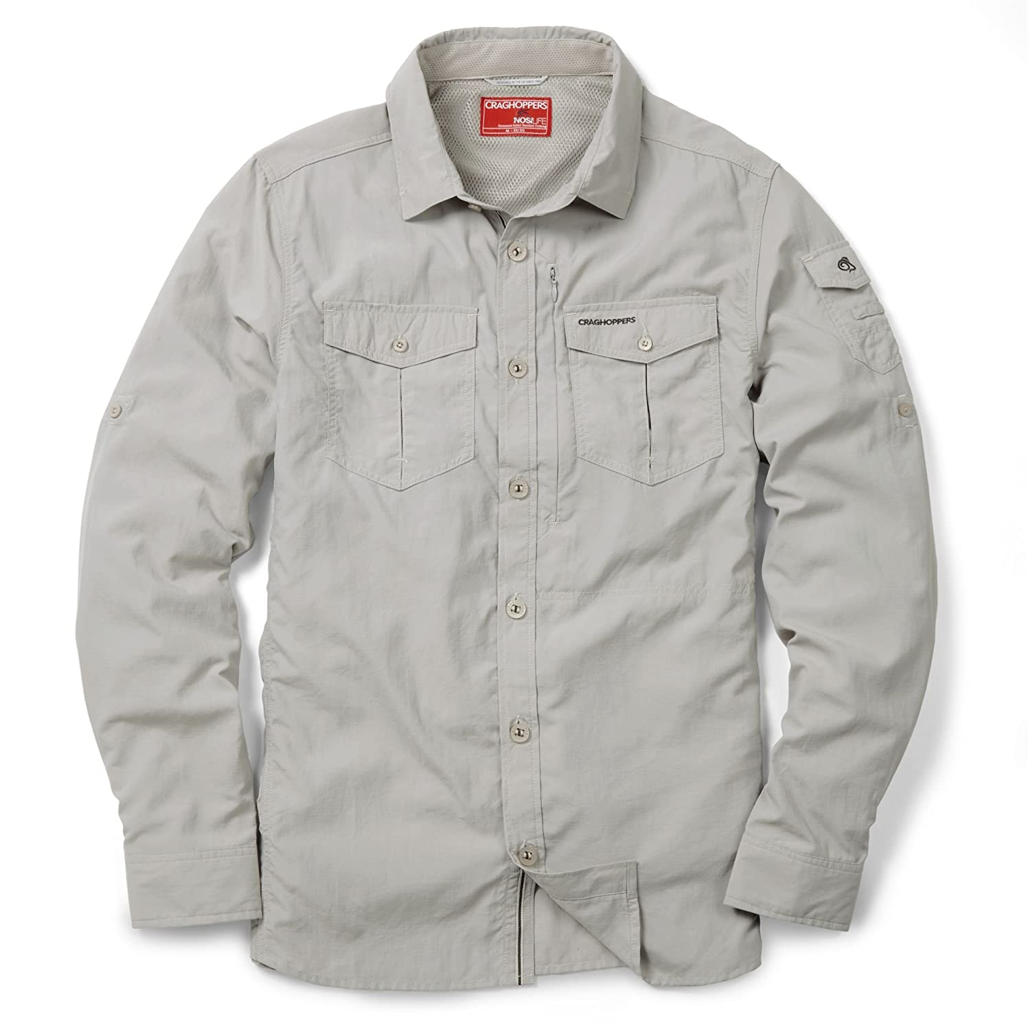 Craghoppers Men s NosiLife Adventure Long Sleeve Shirt  Amazon.in  Clothing    Accessories 48c730b53