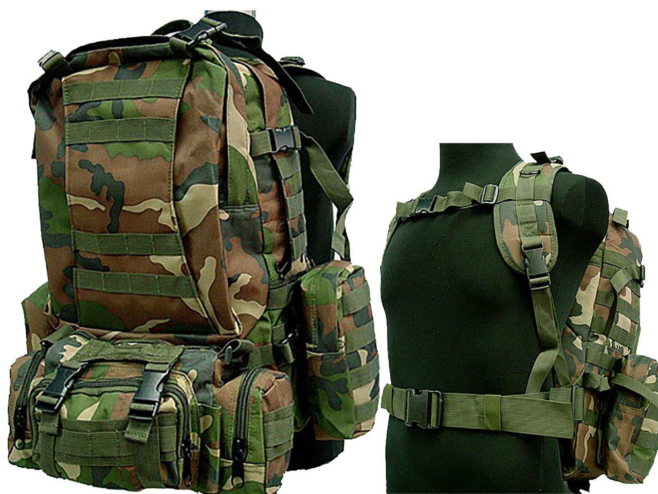 50lタクティカルMOLLE Assault Military RucksacksバックパックハイキングキャンピングバッグWC   B0797N1QFV