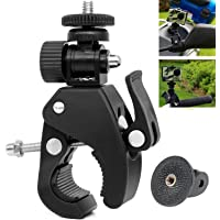 VVHOOY Super Clamp Quick Release Motorcycle Bicycle Bike Camera Handlebar Clamp Mount with Tripod Adapter for DSLR Camera/Sports Action Camera and More