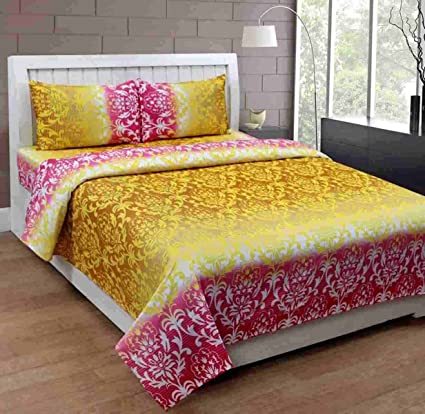 Brand New Pure Cotton Bedsheets For Double Bed With Pillow Cover Bombay  King Size 240 Cm