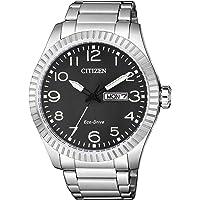 CITIZEN 西铁城 男士指针式石英手表 不锈钢表链 BM8530-89EE