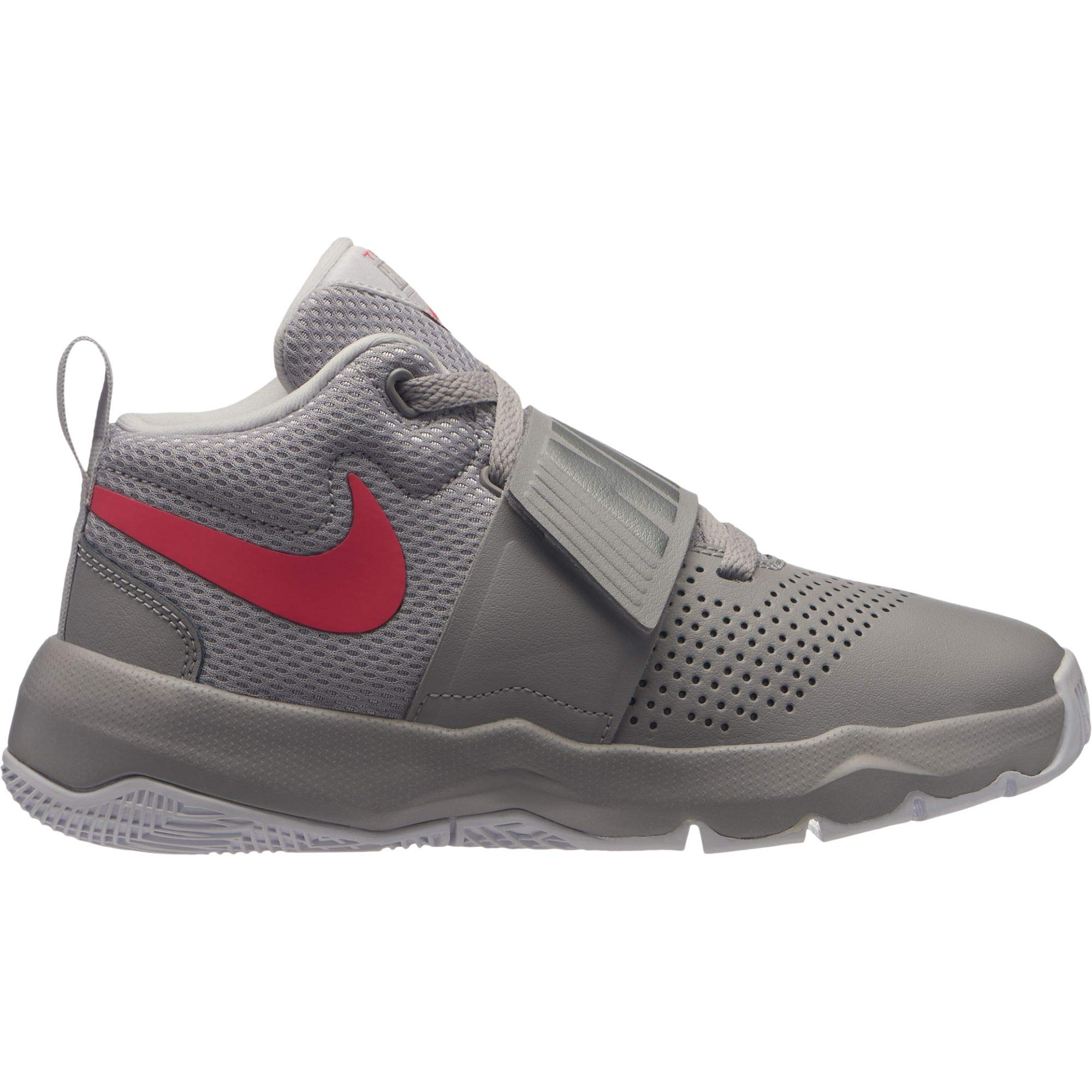 Nike Boys' Team Hustle D 8 (GS) Basketball Shoe, Atmosphere Racer Pink-VAST Grey, 5Y Youth US Big Kid
