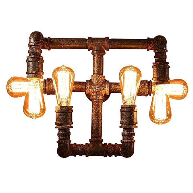 Amazon.com: FL-61020 Industrial Wall Light with 6 Bulbs ...