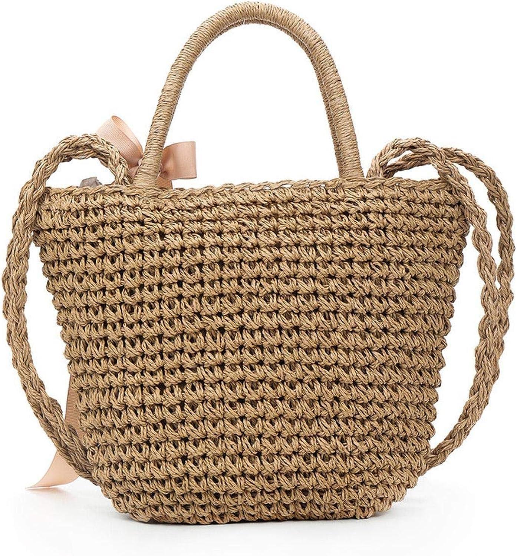 Women Handbags Drawstring Style Handmade Bohemian Bag For Women Cute Woven Shoulder Travel Totes