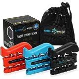 (3 Pack) Finger Strengthener Workout Kit - Finger Exerciser for Forearm and Hand Grip Strengthener - Workout Equipment for Mu