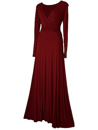 Robe Femme, Maxi Longue Rouge Vert Bleu Sarcelle Pourpre Bordeaux ... 0a212c2e5b9f