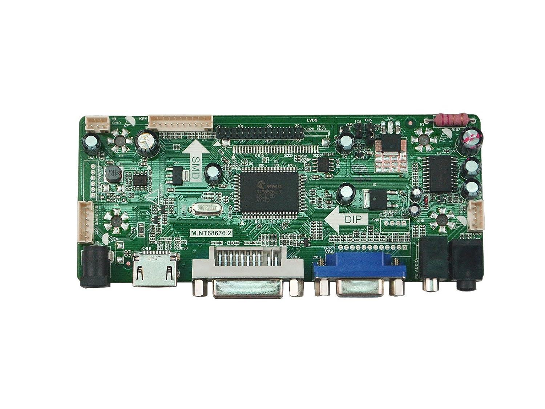 Njytouch m nt68676.2/a HDMI DVI VGA audio LCD Controller Board per ltn156at24-l01/ltn156at23-w01/1366/x 768