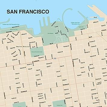 Amazoncom Design Ideas Puzzle Map San Francisco Home Kitchen