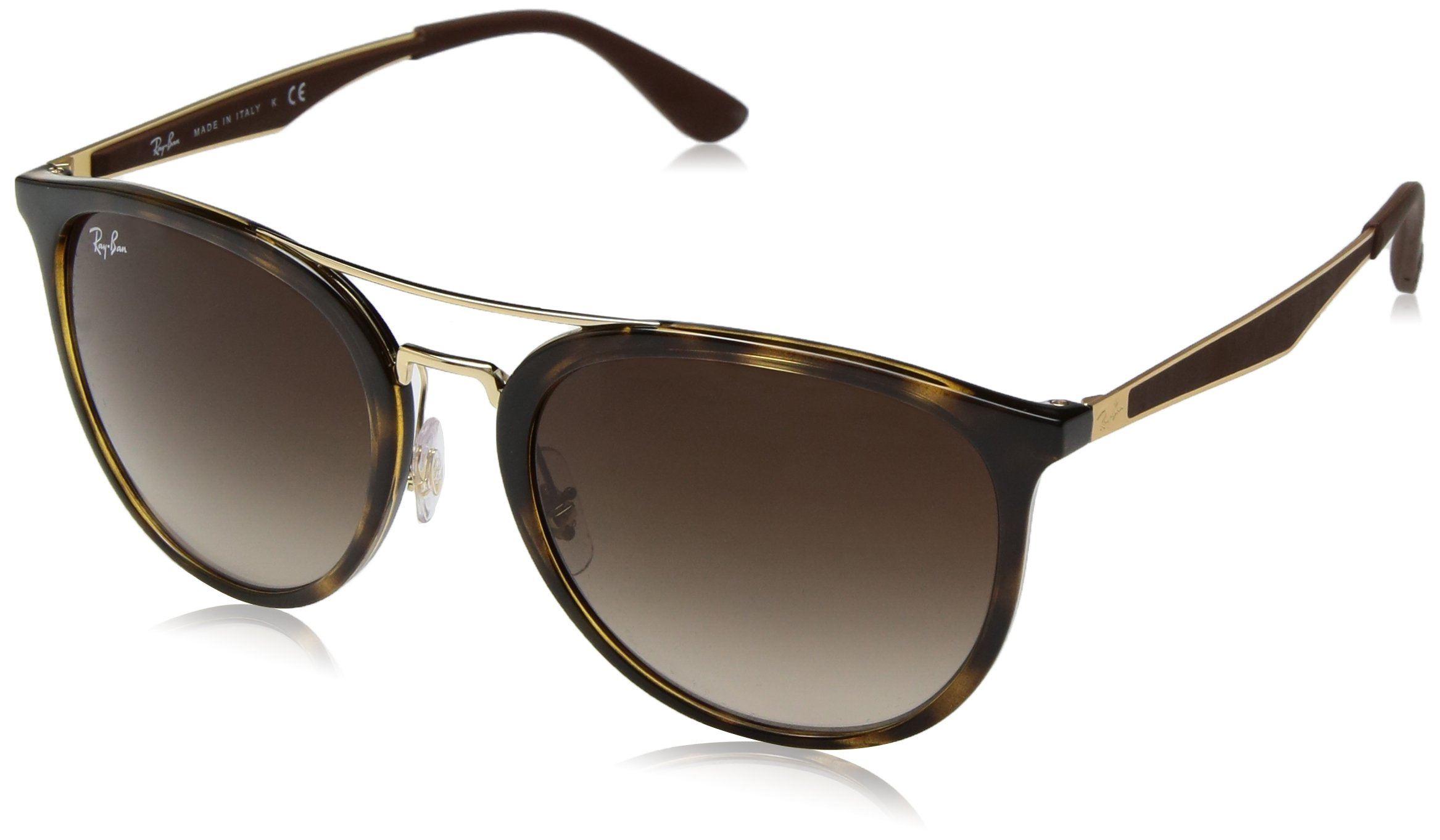 Ray-Ban Men's Plastic Man Square Sunglasses, Light Havana, 55 mm