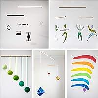Set of 5 Montessori inspired mobiles - Black and White mobile, Green Gobbi, Dancers, Octahedron, Rainbow. Montessori…