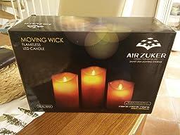 air zuker led kerzen mit beweglicher flamme echt flammen effekt. Black Bedroom Furniture Sets. Home Design Ideas