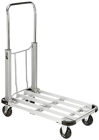 Cablematic - Carro de Aluminio Plegable con Ruedas de 70x41cm y Carga 150Kg: Amazon.es: Electrónica