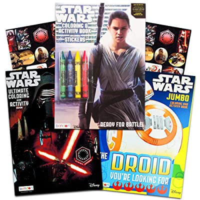 Star Wars Coloring Book Bundle ~ 3 Star Wars the Force Awakens Coloring and Activity Books Featuring Kylo Ren, Rey, Stormtroopers, BB-8, and More: Toys & Games
