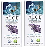 Aloe Cadabra Natural Personal Lubricant and Organic Vaginal Moisturizer for Men, Women & Couples - French Lavender Essential Oil, 2.5 Ounce (Pack of 2)