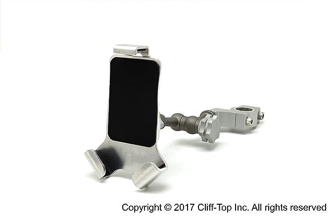 Cliff-Top® Universal Motocicleta Teléfono celular soporte con rotación de 720 ° brazo (