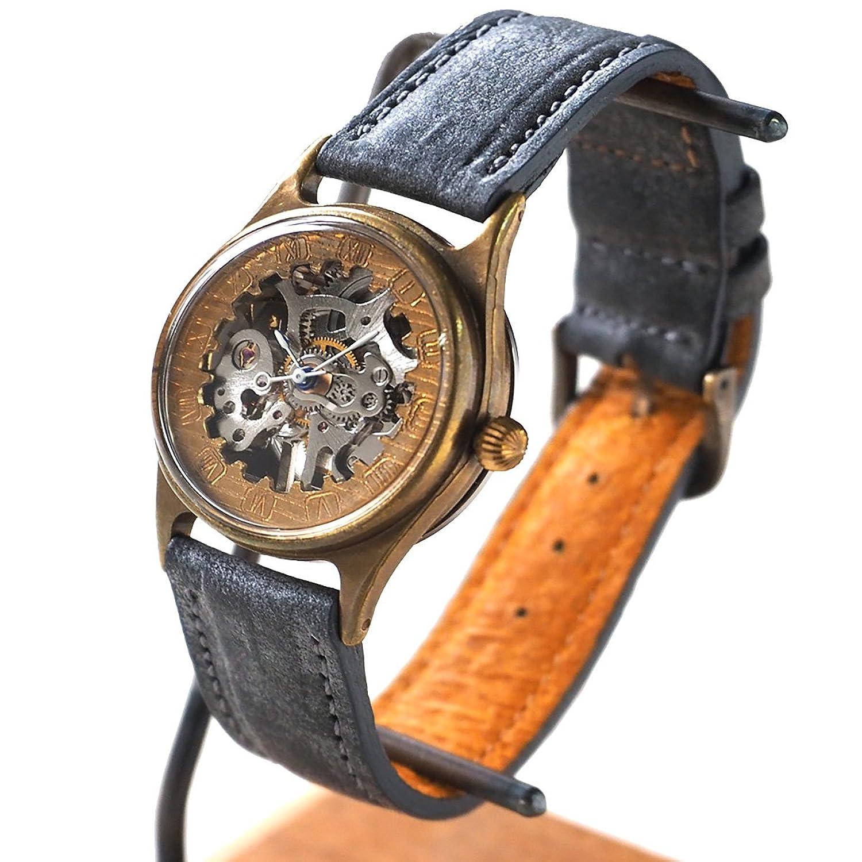 JOIE INFINIE DESIGN(ジョイ アンフィニィ デザイン) 時計作家大護慎太郎 手作り腕時計 手巻き式R.Rイタリアンレザーベルト (受注制作) (ブルーグレー) B072KDF7L7
