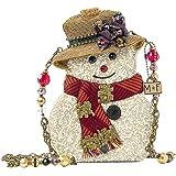 MARY FRANCES Chillin' 雪人雪人雪地冬季圣诞手提包钱包 白色 全新