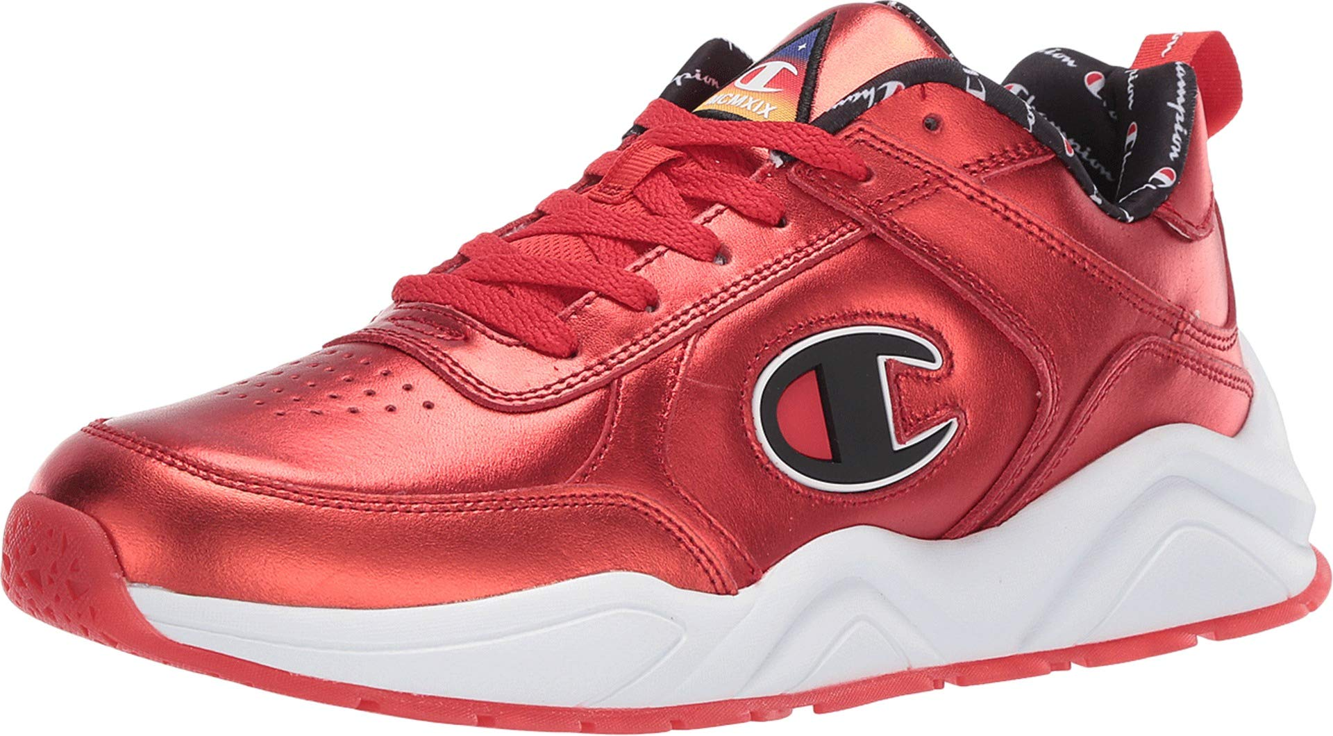 Champion Mens 93Eighteen Metallic Casual Fashion Sneakers Red 8 Medium (D)