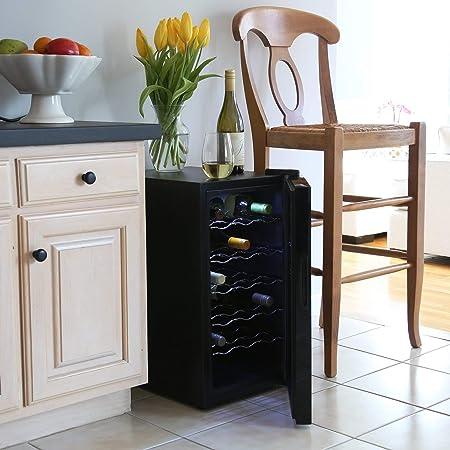 Vinoteca termoeléctrica de Ivation para 18 botellas de vino tinto y blanco/enfriador y dispensador con pantalla digital de temperatura
