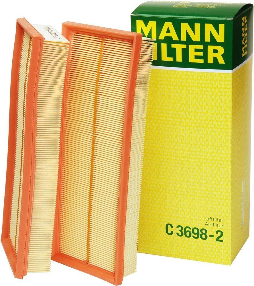 Mann Filter C 3698/3-2 Air Filter Element, (Set of 2) by Mann Filter
