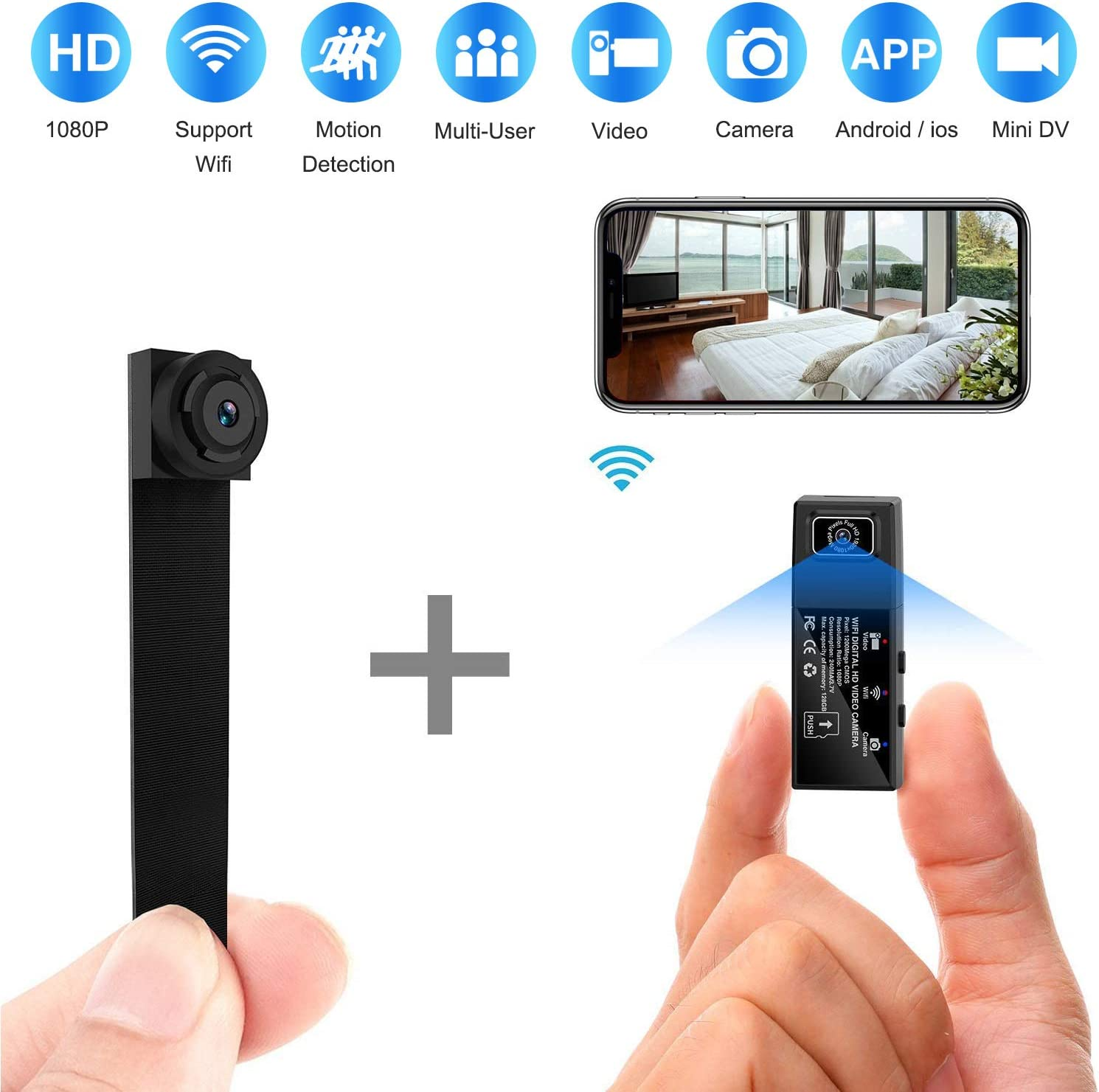 battery HD 4K WIFI Wireless Camera IP cam covert Nanny video Recorder