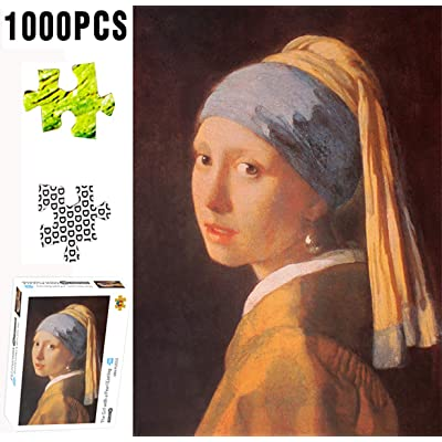 XIECCX Mini Jigsaw Puzzle (1000-Piece) The Girl with The Pearl Earring Unique Home Games for Kids Adult Decompression Toys Leisure Time Easy-Clean Promotes Hand-Eye Coordination: Toys & Games [5Bkhe1007010]