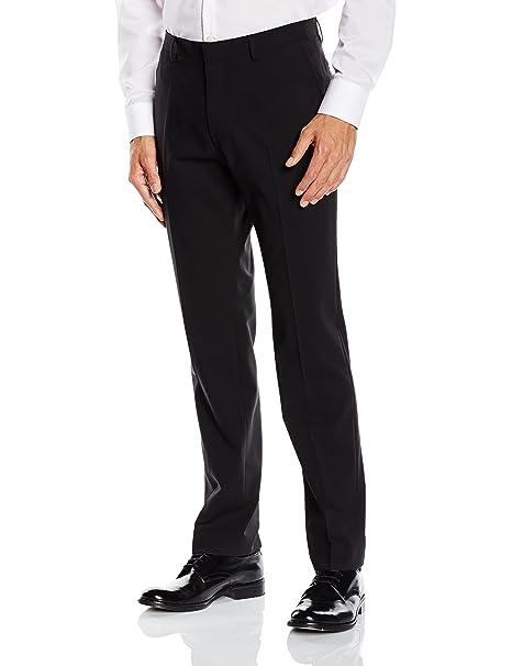 Roy Robson Slim Fit, Pantalones de Traje para Hombre, Negro ...