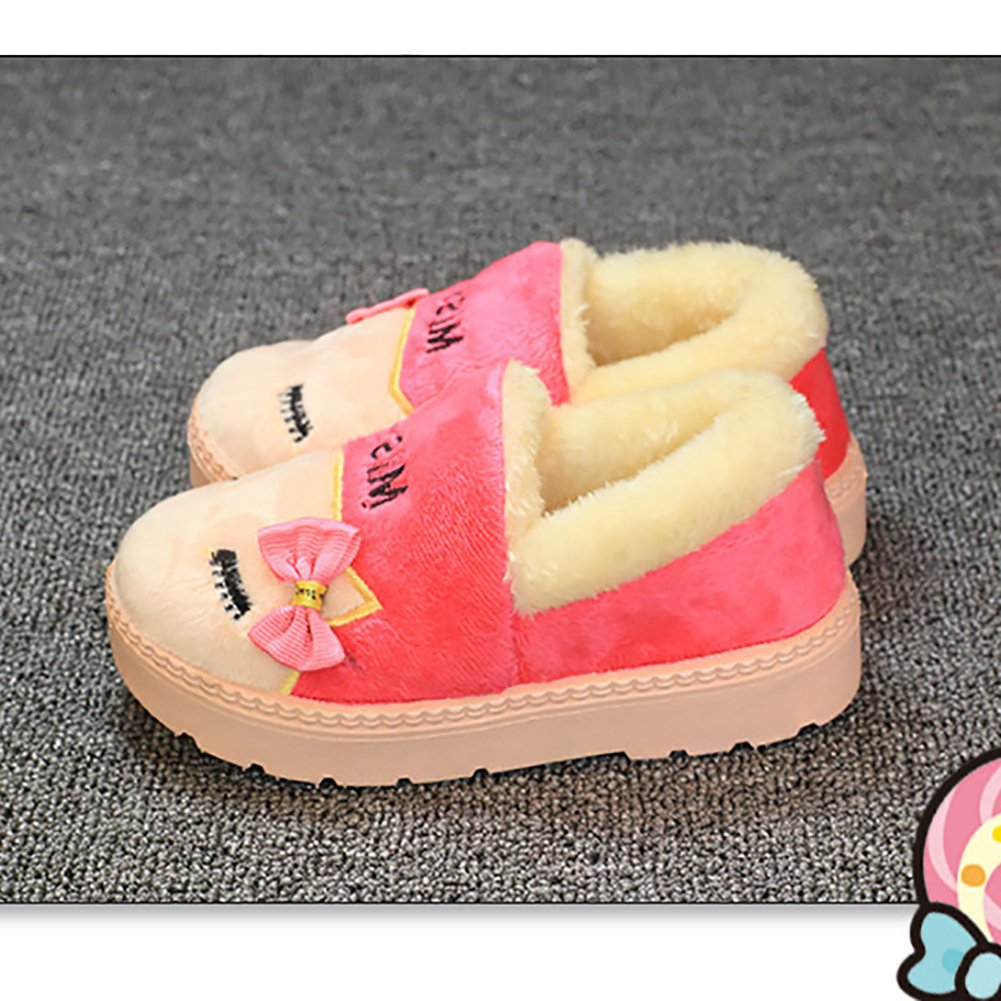 BININBOX Kids Cartoon Slippers Winter Warm Cotton Shoes Girls Boys