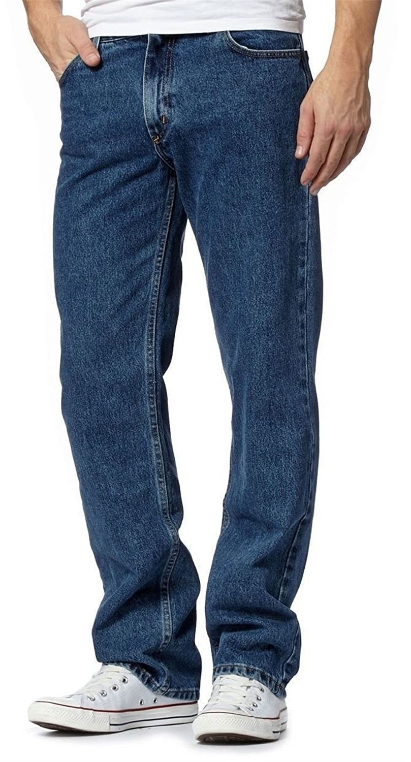 RIDDLED WITH STYLE Boys Denim Jeans Straight Pants Mens Heavy Duty Leg Regular Casual Jeans Pant