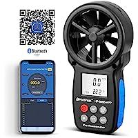 HoldPeak hp-866aseries Medidor portátil de Velocidad del Viento Volumen de Aire anemómetro USB/Handheld con Feature Registrador de Datos y Bolsa de Transporte