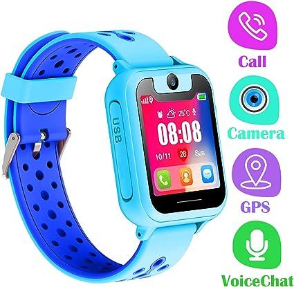 PTHTECHUS Telefono Reloj Inteligente GPS Niños: Amazon.es: Electrónica