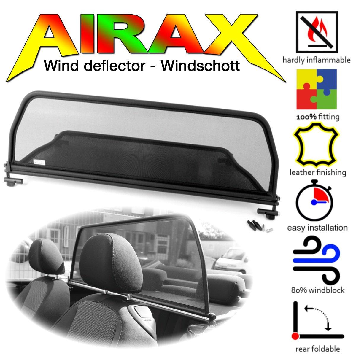 AIRAX Windschott fü r VW The Beetle Cabrio mit Schnellverschluss ab Bj 11.2012 - Chrom Design