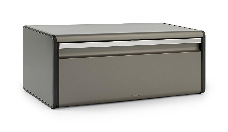 Brabantia Fall Front Bread Bin - Grey 299384 299384_Platinum
