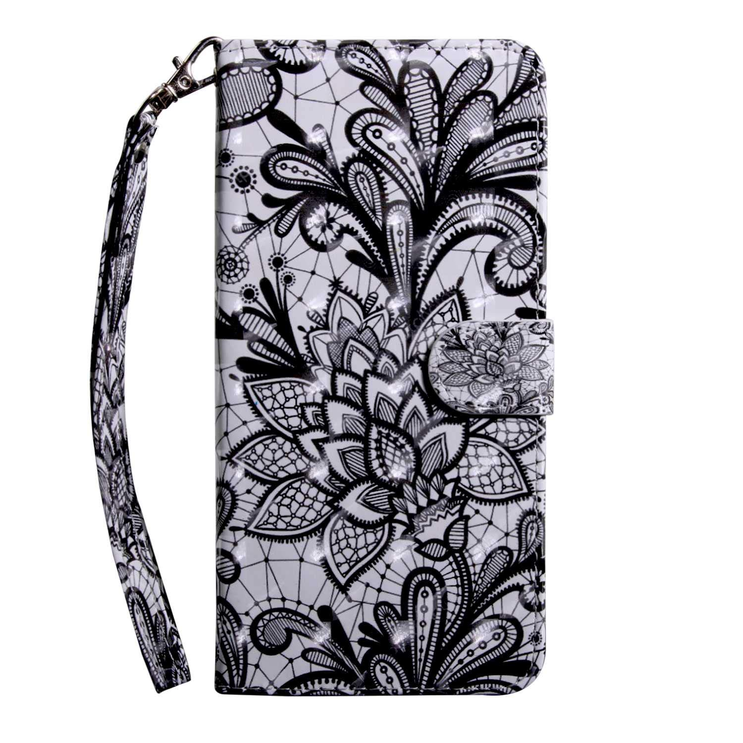 Xiaomi MI 5X Case CUSKING Magnetic Wallet Case for Xiaomi MI 5X [Card Slot] [Hand Strap] [Flip Case] [Easy to Clean] Full Body Proective Case - Lace