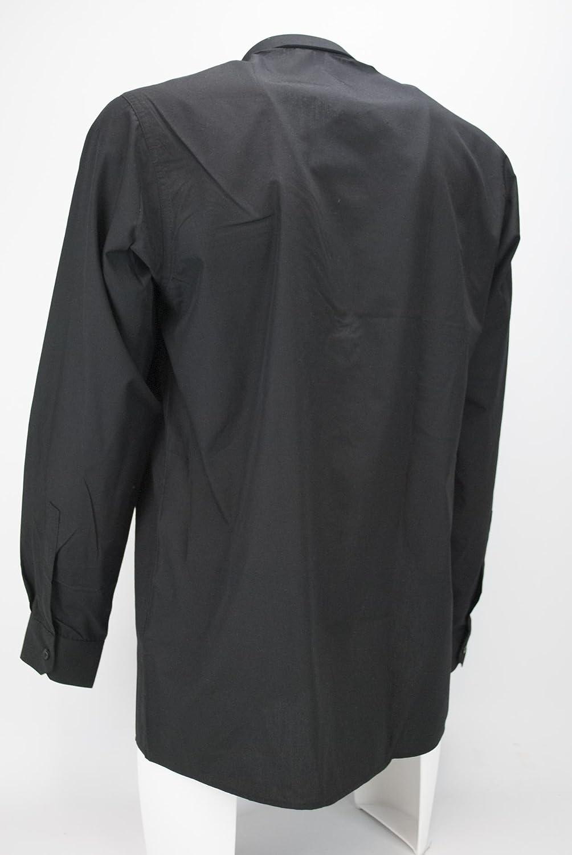 Grino Firenze Camisa Sacerdote Sacerdote Sacerdote Negro de popelina con Bolsillo EN el Pecho: Amazon.es: Ropa y accesorios