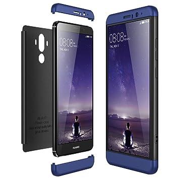 CE-Link Funda Huawei Mate 9, Carcasa Fundas para Huawei Mate 9, 3 en 1 Desmontable Ultra-Delgado Anti-Arañazos Case Protectora - Azul + Negro