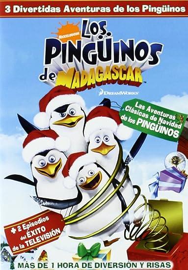 Los Pinguinos De Madagascar Dvd Amazon Es Varios Cine Y Series Tv
