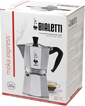 Bialetti Moka Express Cafetera Italiana Espresso, 9 Tazas ...