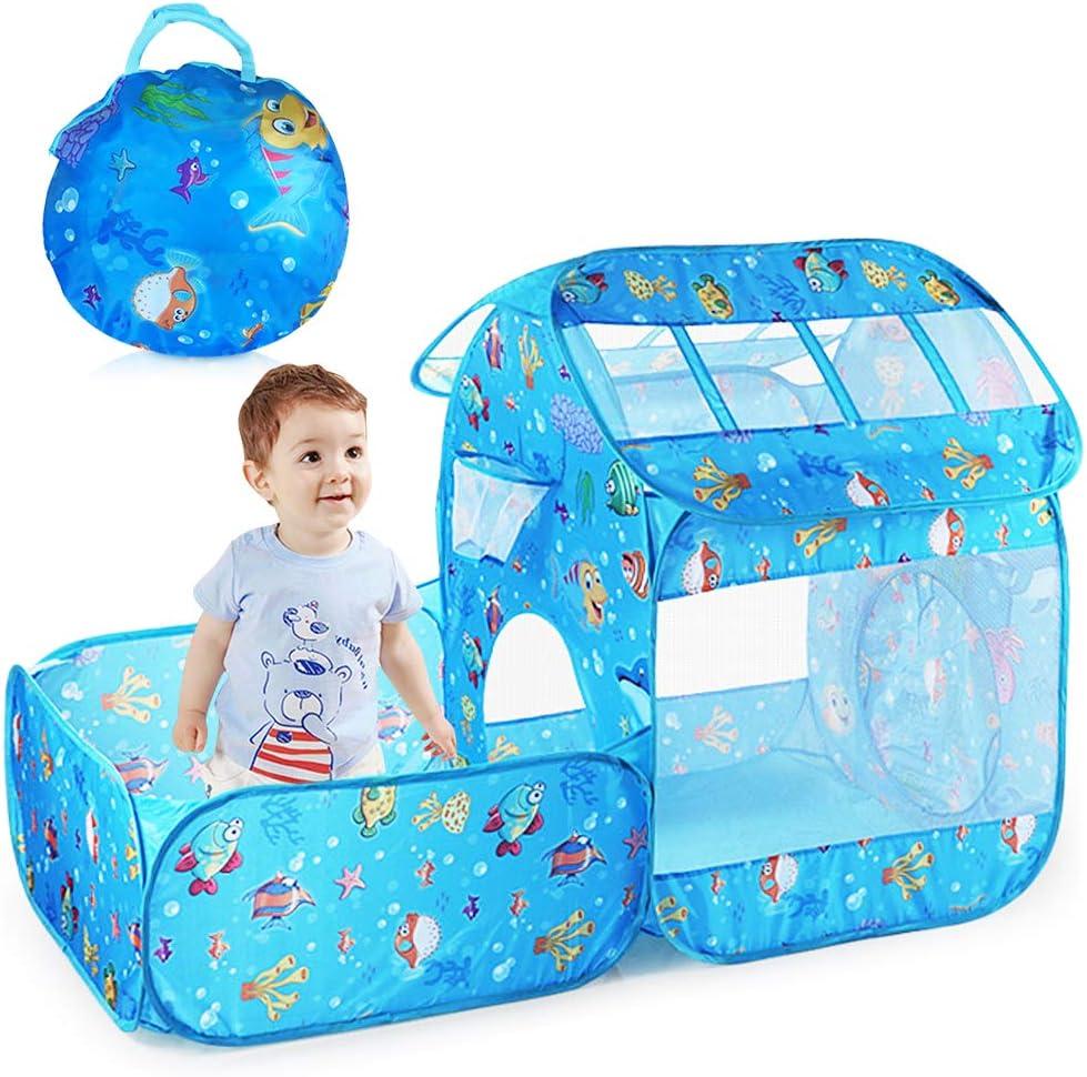 Nice2you Tente de Jeu pour Enfants Pop up Tente pour Enfants Offre int/érieure et ext/érieure pour Toutes Les Filles et Les gar/çons