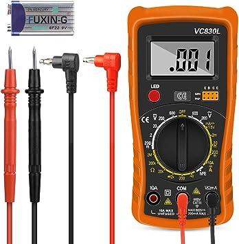 Digital Multimeter Nakeey Multimeter Voltmeter Auto Range Ac Dc Multimeter Voltmeter Amperemeter Ohmmeter Mit Temperaturmessung Baumarkt
