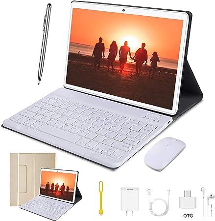 Tablets 4G 10 Pulgadas con Teclado 64GB ROM 4GB RAM Android ...